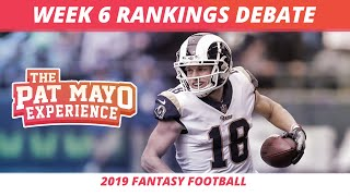2019 Fantasy Football Week 6 Rankings Breakdown — Start, Sit, Sleepers & Debate