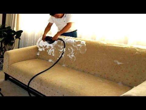 Как отстирать диван в домашних условиях