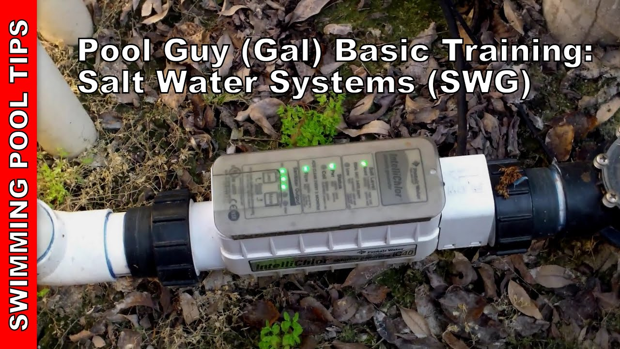 Pool Guy Gal Basic Training Part 3 Salt Water Systems SWG