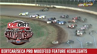 Charlotte Motor Speedway SECA/DIRTcar Pro Modified Highlights