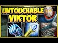NEW TANK VIKTOR! 100% KITE/DODGE ALL ABILITIES! TANK VIKTOR SEASON 8 TOP GAMEPLAY! League of Legends