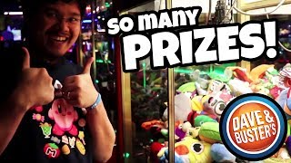 So Many Prizes! Burning Off Extra Chips At Dave And Busters!!