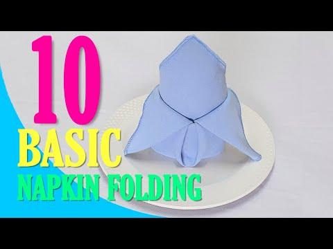 10 Simple #Napkin Folding