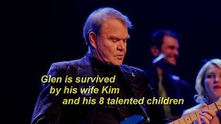Glen Campbell - sings of his Christian Faith