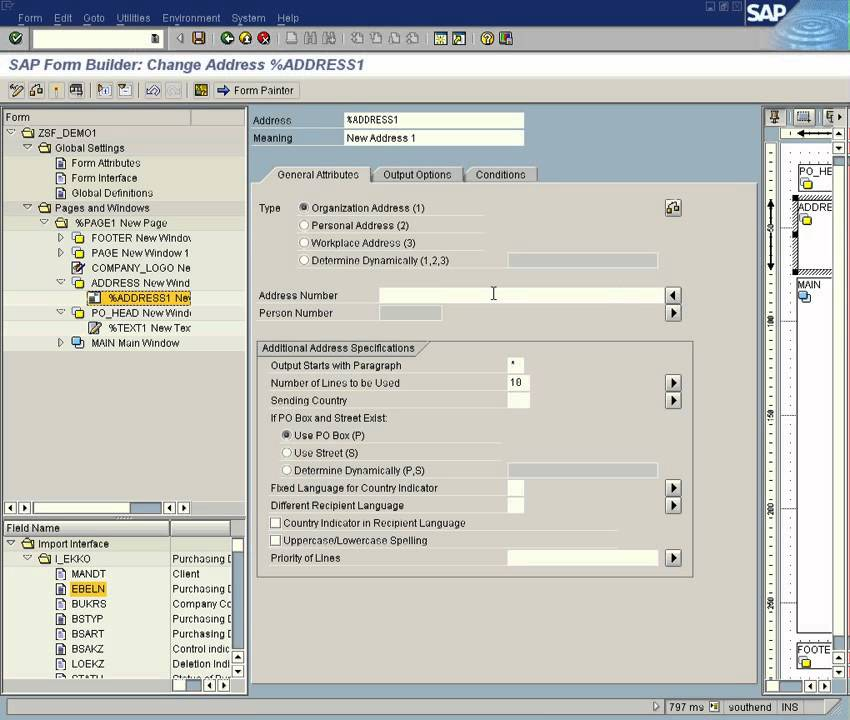 Sap Abap Smartforms Demo For Po Part 1 Youtube