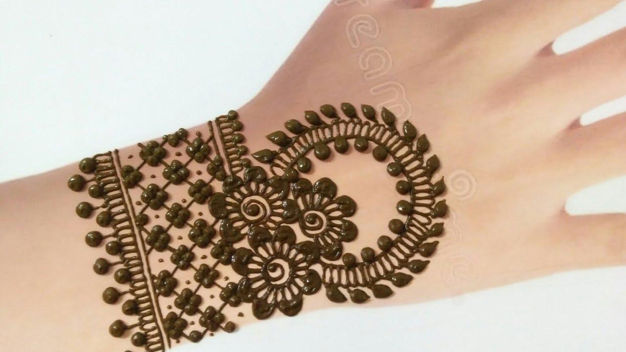 mehandi design back hand chain