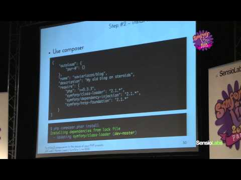 SymfonyLive Paris 2012 - Xavier Lacot - Symfony2 components to the rescue of your PHP projects
