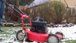 Starting my garden equipment