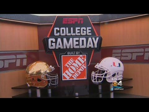 College GameDay Taking Over University Of Miami Campus