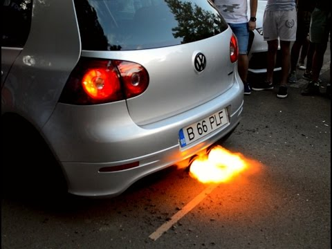 Volkswagen Golf 5 GTI Launch Control with Boost R32 Exhaust - Big Flame Anti Lag