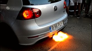volkswagen golf 5 gti launch control with boost r32 exhaust big flame anti lag