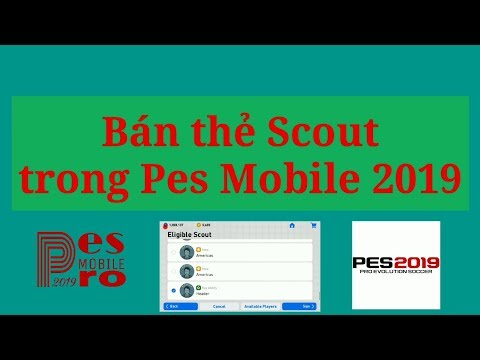 Bán Thẻ Scout Trong Pes Mobile 2019