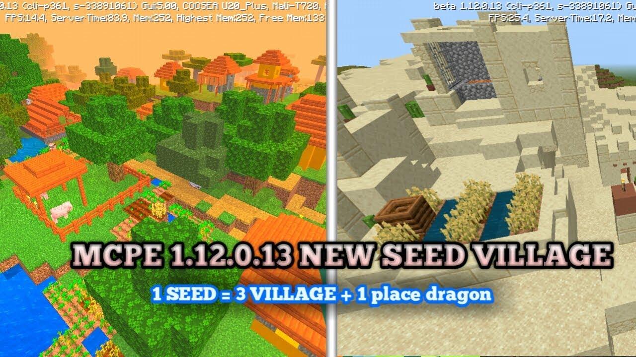 Minecraft Pocket Edition versi 122.1222.122.1223 - Village seed in mcpe v 122.1222.122.1223