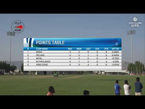 LIVE CRICKET - Oman vs Nepal T20 International