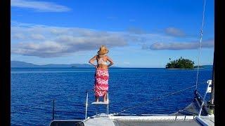 Sailing the Solomon Islands, jungle cocoa, ginger and banana plantation