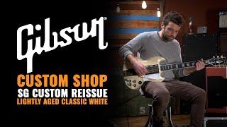 Gibson Custom Shop Sg Custom Reissue Lightly Aged Classic White (serial #041621)   Guitar Demo