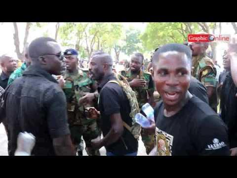Ghana Army mourns Major Mahama with 'Gyama' at the State House