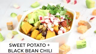 Easy Sweet Potato Black Bean Chili + 3 Ways to Use It | Vegan Dinner Idea