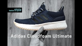 Adidas CLOUDFOAM ULTIMATE 'navy/core black' | UNBOXING & ON FEET | fashion shoes | 2018 | 4K