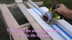 """Hand-Held tile saw for large tile. Ryobi 4"""" Tile Saw."""