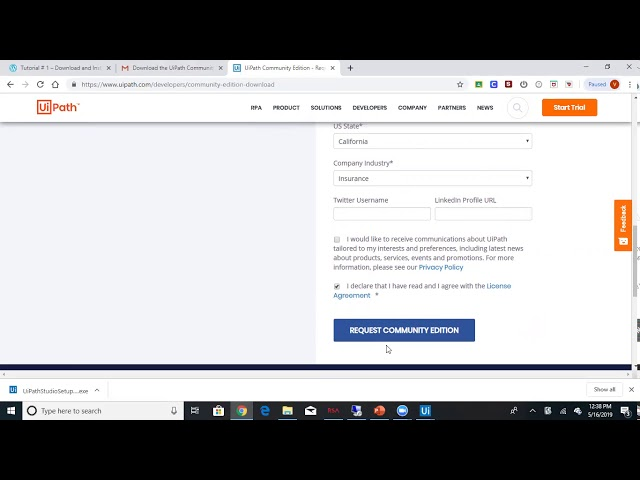 uipath community activation error
