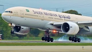 vuclip [FullHD] Saudi Arabian Boeing 777-200(ER) landing & takeoff at Geneva/GVA/LSGG