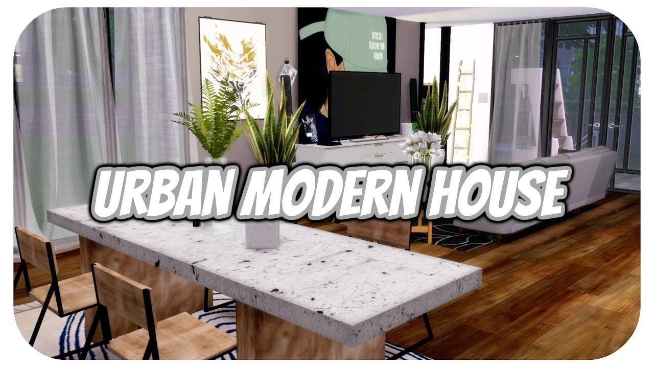 The Sims 4 | Apartment Build: New York Urban Modern House | W/CC ...