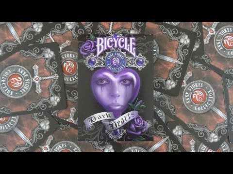 Bicycle Anne Stokes Dark Hearts Playing Cards | Deck Review -Display