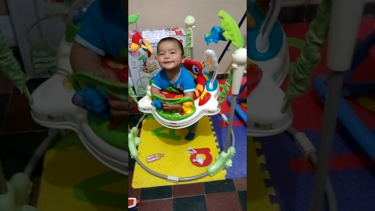 1842ae2d5afe Jumperoo Fisher price  Rainforest  Saltarin Jumper. - YouTube