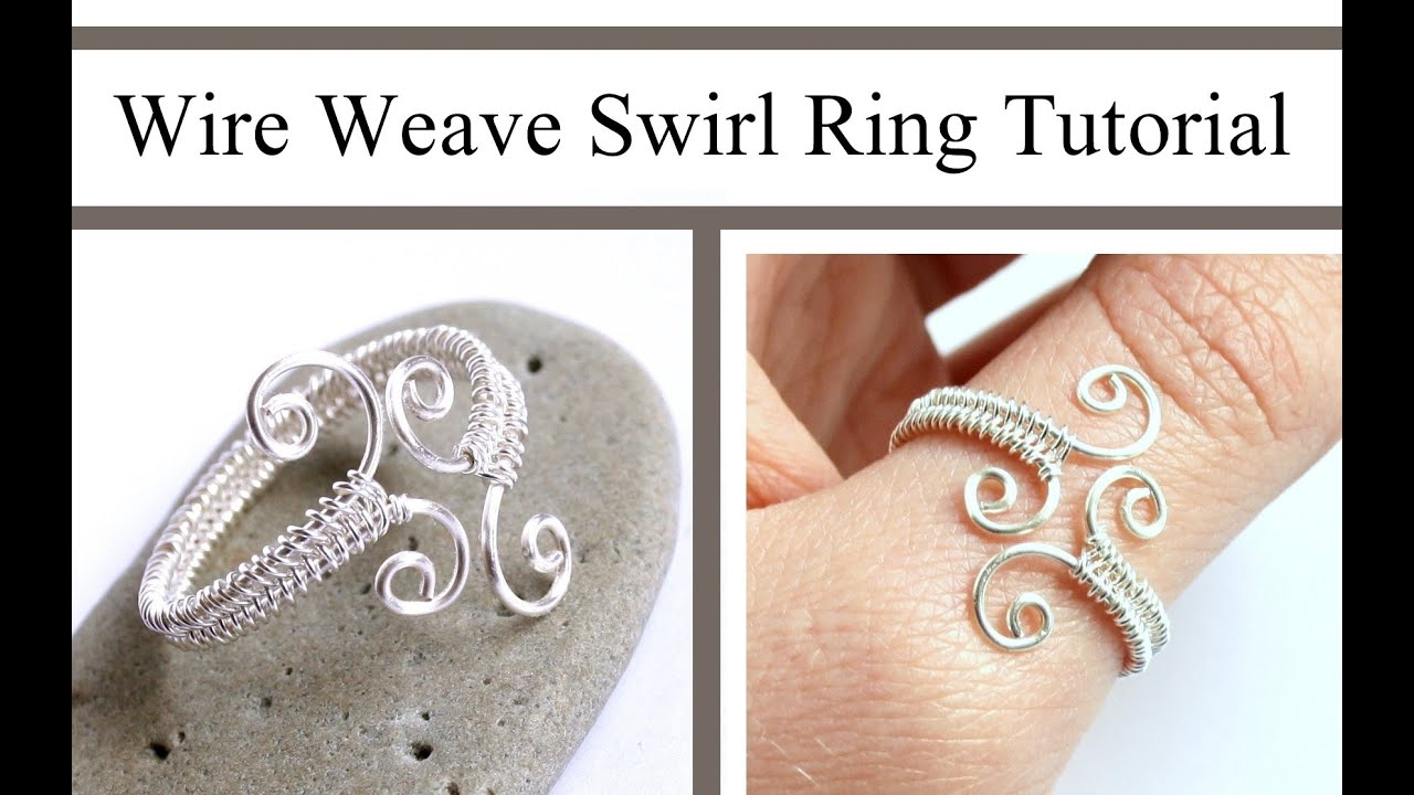 Wire Weaving Jewelry Tutorial : Adjustable Swirl Ring : Wire Wrapped ...