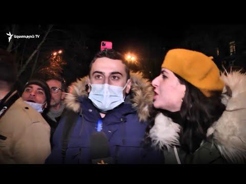 Ակցիային մասնակից մի խումբ քաղաքացիներ հարձակվեցին «Ազատության» լրագրողի և օպերատորի վրա