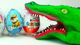 Открываем яйца сюрпризы, ищем игрушки