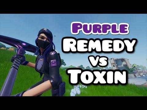 Purple Remedy Vs Toxin Skin Gameplay! | Fortnite