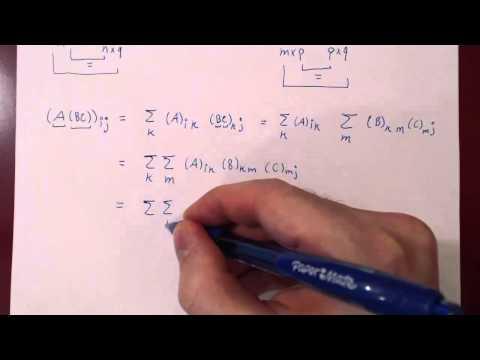 Properties of Matrix Algebra - Proofs