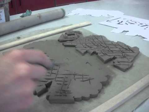 Clay Tiles Joining Clay With Scoring And Slip Youtube