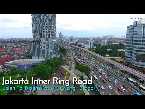 Jalan Tol Dalam Kota Ruas Cawang - Grogol, Jakarta Drone Video