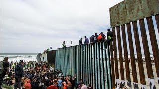 Primer grupo de migrantes llegó a la frontera de Estados Unidos