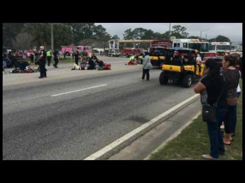Van Slams Into Gulf Shores Band At Alabama Mardi Gras Parade