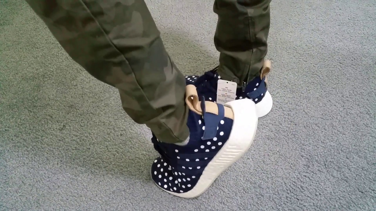 e38ed84ae Latest New Adidas Originals NMD R2 PK W BA7560 Polka Dot On Feet Full HD  2017