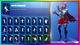"ALL Emotes/Dances with *NEW* ""FABLE"" Skin in Fortnite: Battle Royale!"