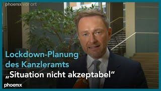 Lindner mit kritischem statement zur lockdown-planung des kanzleramts am 15.01.21.