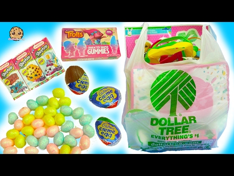 Thumbnail: Dollar Tree Store Haul - Chocolate, Eggs, Easter Painting Crafts, Shopkins, Trolls Gummy