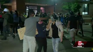 Protesters pepper sprayed outside Boston South End police precinct