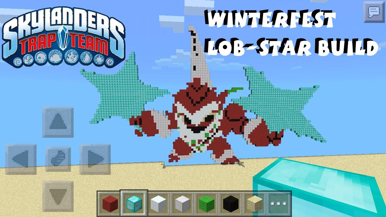 Winterfest Lob-Star Pixel Art - Minecraft Build Skylanders Trap Team - YouTube