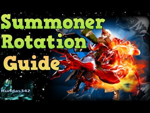 Summoner BASIC ROTATION Guide lvl 50