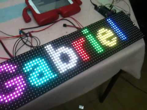 LED MATRIX RGB plus ARDUINO DUE plus BLUETOOTH