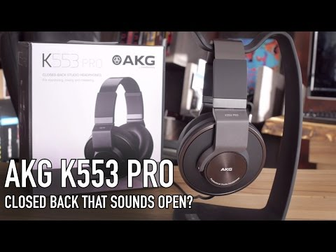 AKG K553 Pro Studio Headphone - Closed Open Back?