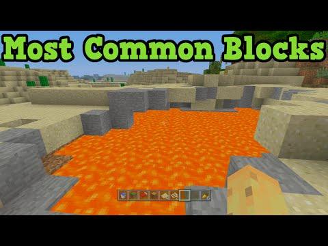 Minecraft Xbox 360 + PS3 Top 10 Most Common Blocks