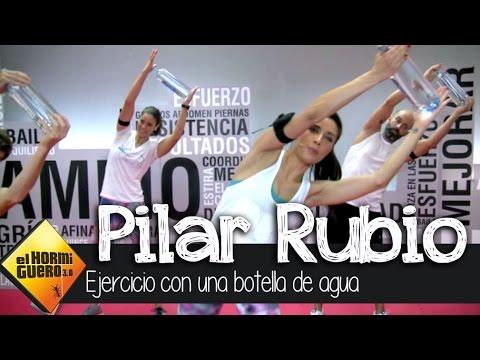 Pilar Rubio I Ejercicios con botella de agua I Cambio constante