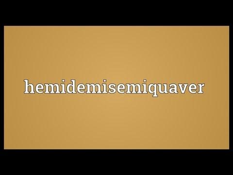 Header of hemidemisemiquaver